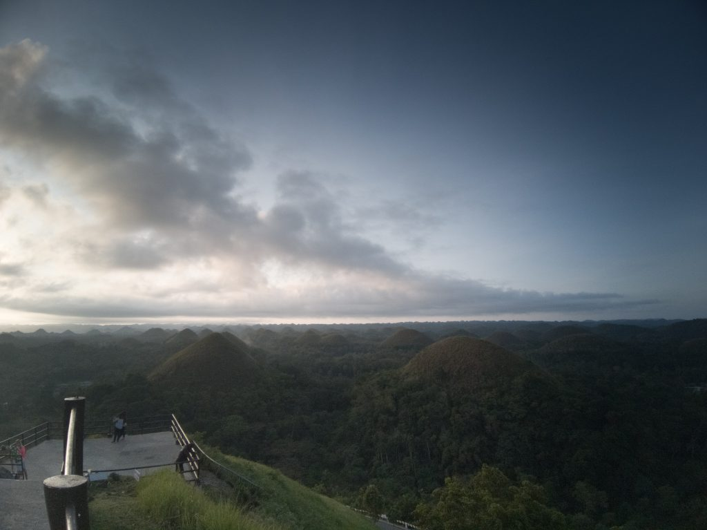 Early morning looking over Bohol's chocolate hills