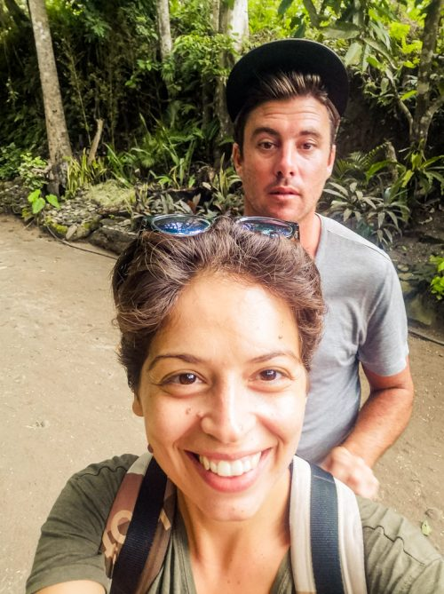 Jacqueline got me by surprise in this selfie on the way to Katibawasan falls