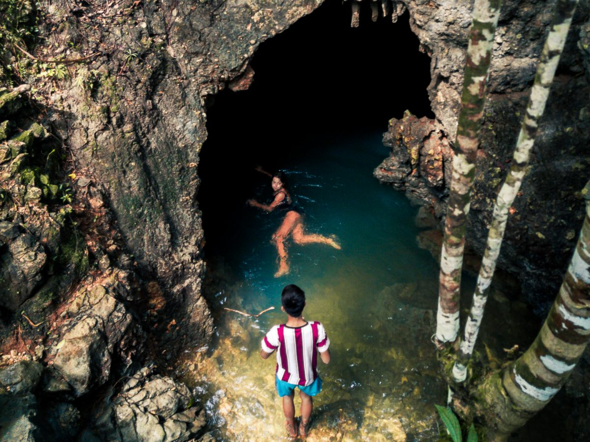 Tayangban Cave and Pool Opposite on Siargao Island