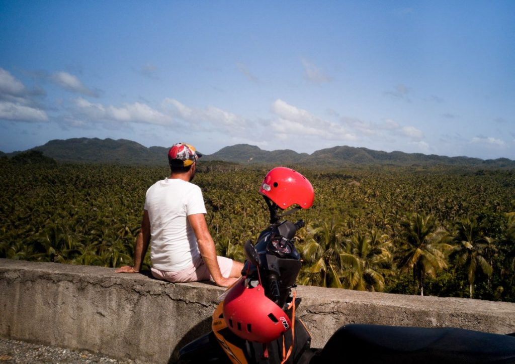 Coconut Trees View Deck on Siargao Philippines