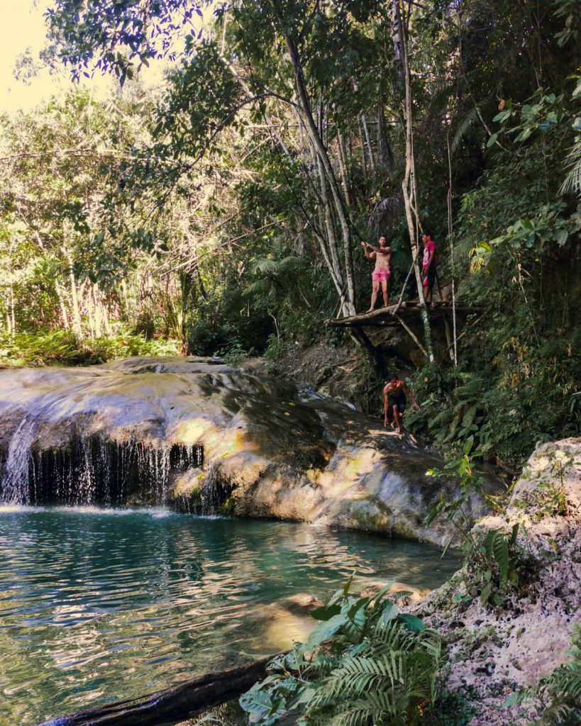 All around the Philippines, tarzan swings are at most waterfalls