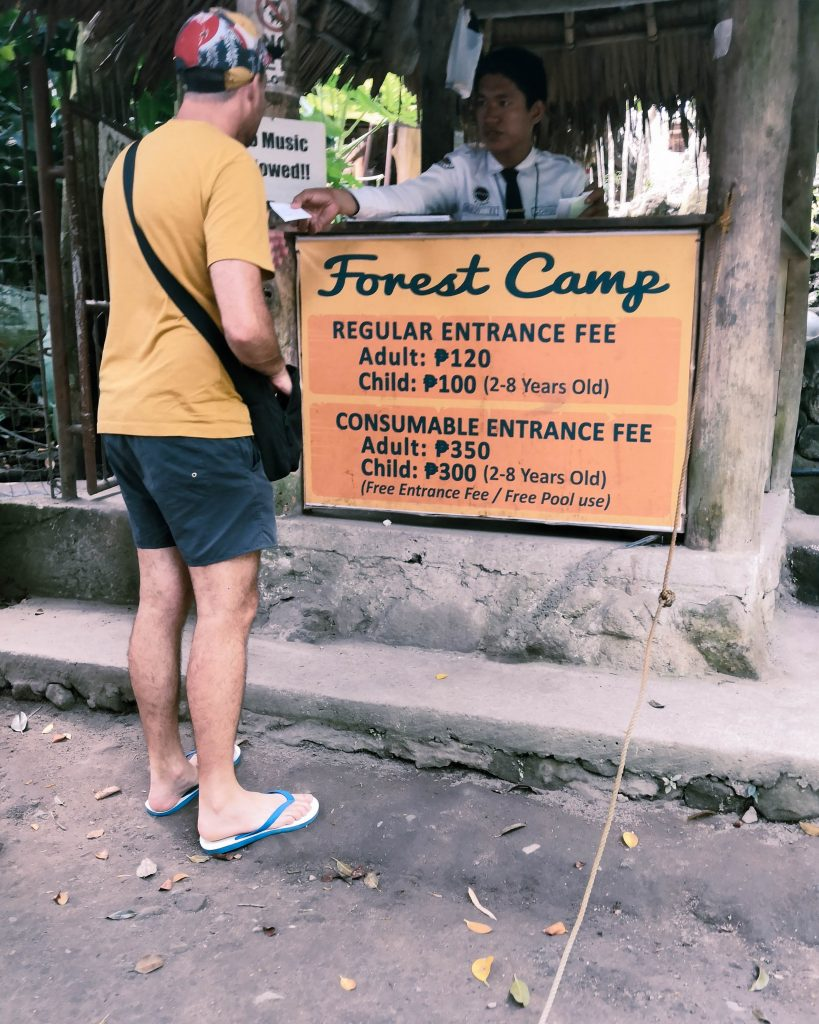 Here I am paying our entrance fees