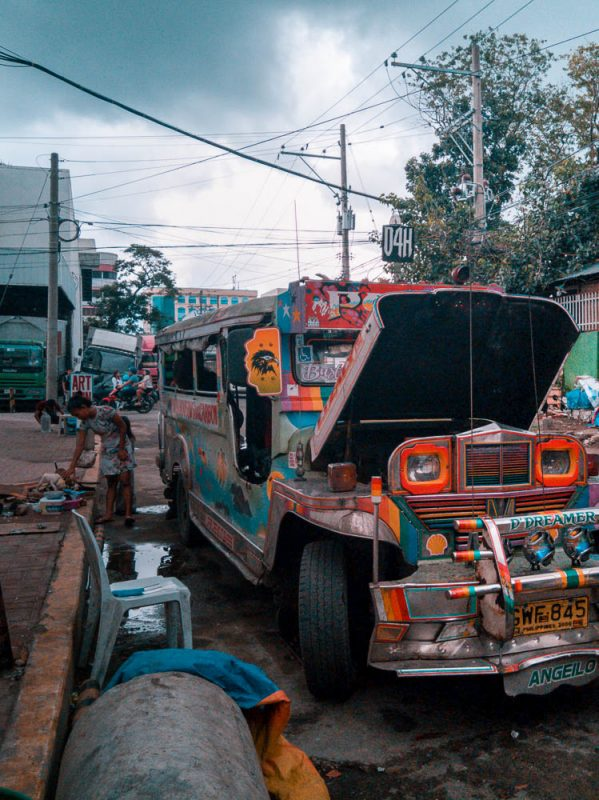 The jeepney, the colourful modified jeeps used as public transport in the Philippines