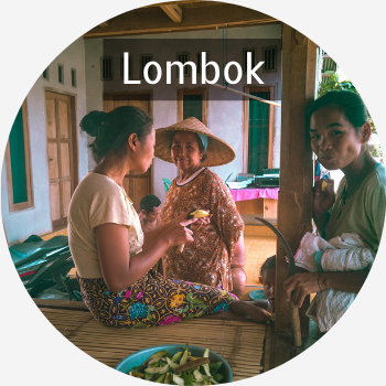Villagers at our homestay in Senaru, North of Lombok