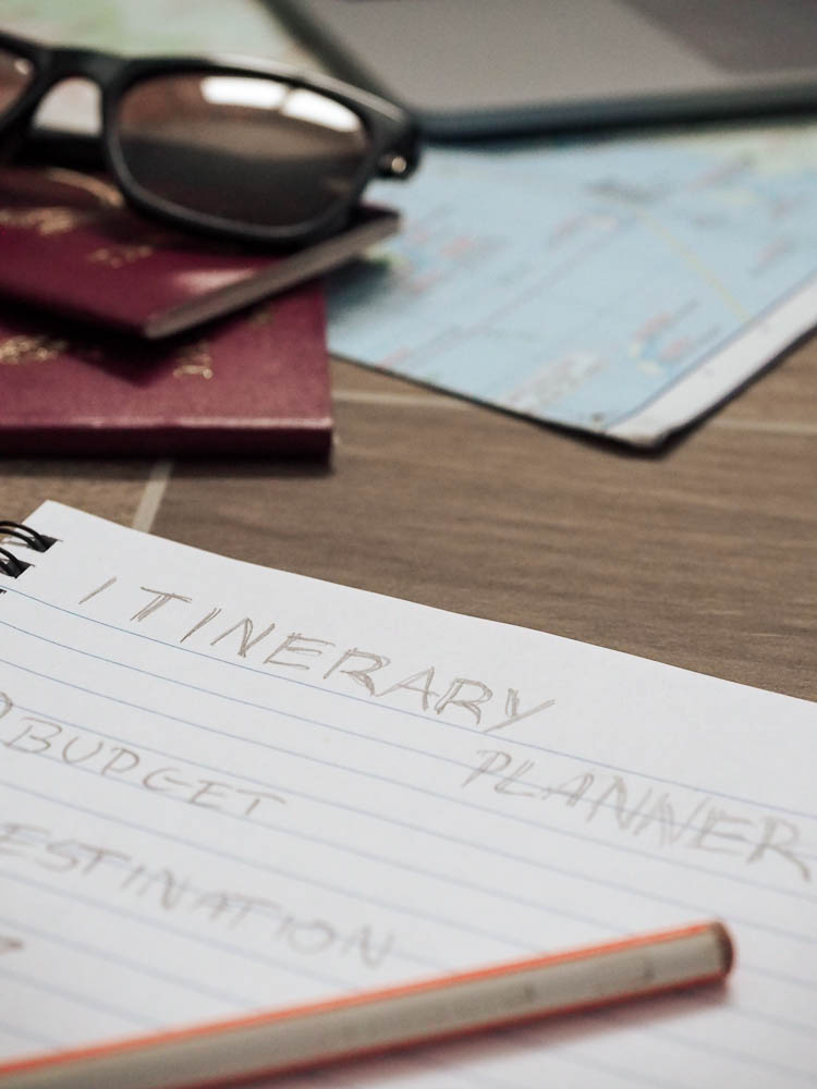 Everything in place to start planning a holiday vacation