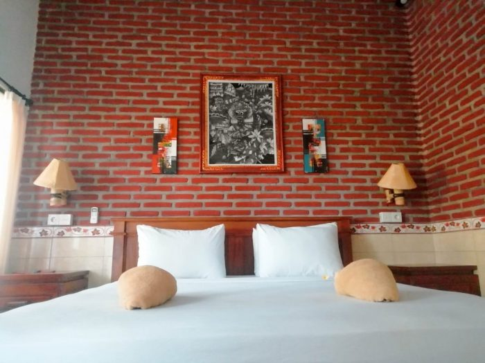 the room we had while staying close to Pemuteran Bali which was very cheap