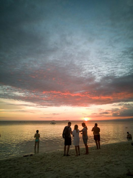 The clouds created a colourful viw in the sky while the sun slowly disappeared at Paliton Beach