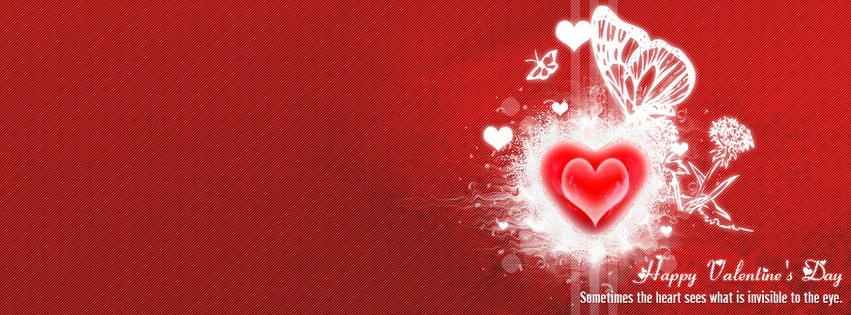 Happy Valentine Day - Sometimes the heart sees Facebook cover photo