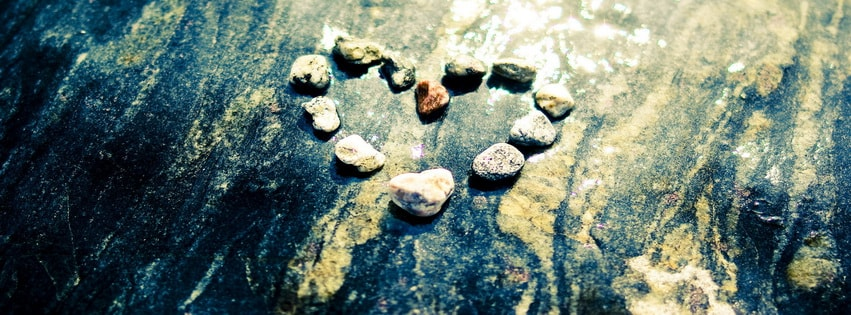 Heart Stones Facebook cover photo