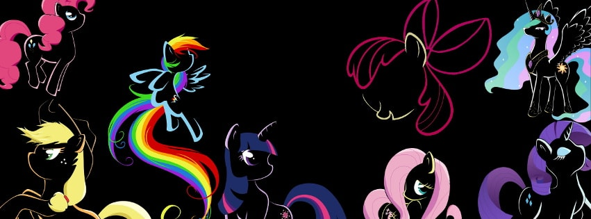 My Little Pony Fluttershy Rainbow Facebook cover photo