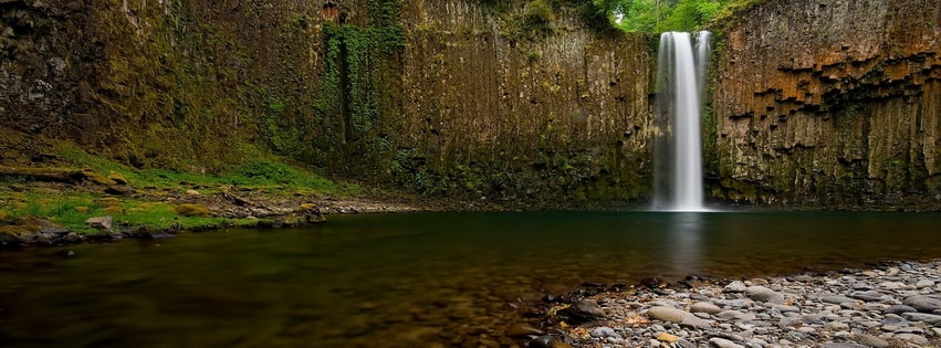 Natural Waterfall Facebook cover photo