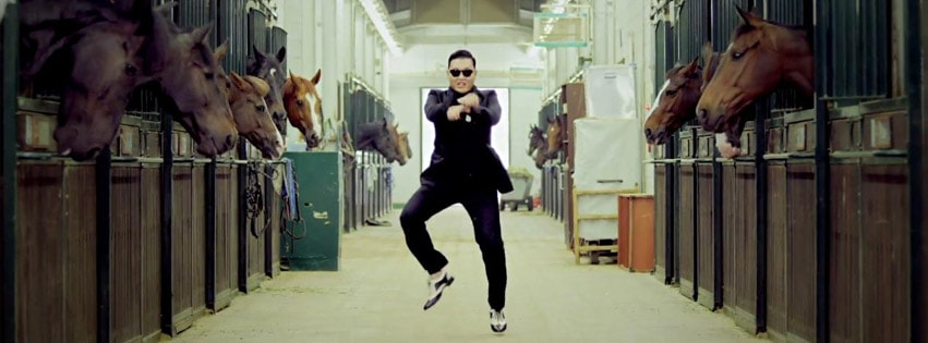Psy Gangnam Style Facebook cover photo