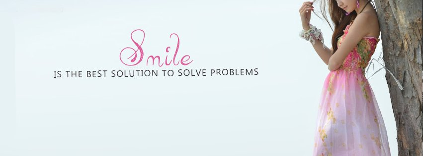 Smile is The Best Solution Facebook cover photo