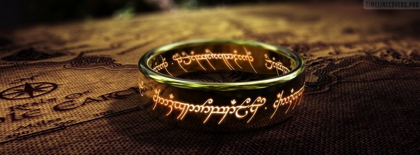 The Ring Lord of The Rings Jrr Tolkien Facebook cover photo