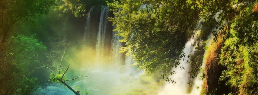 Waterfall Amazing Nature National Geographic Facebook cover photo