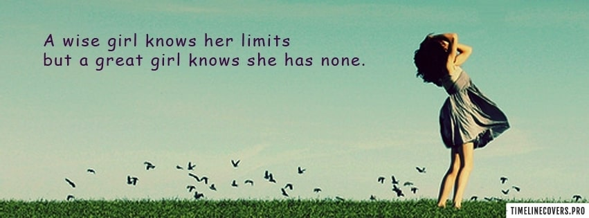 A Wise Girl Facebook cover photo