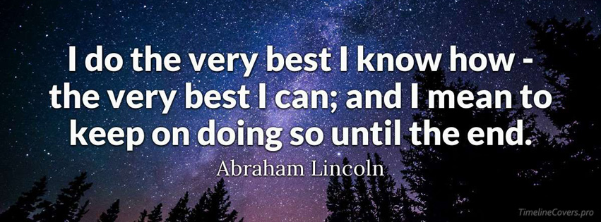 Abraham Lincoln Motivational Quote Facebook cover photo