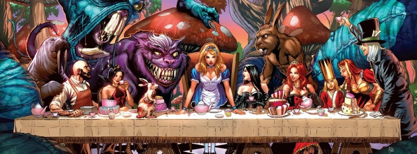 Alice in Wonderland Facebook cover photo