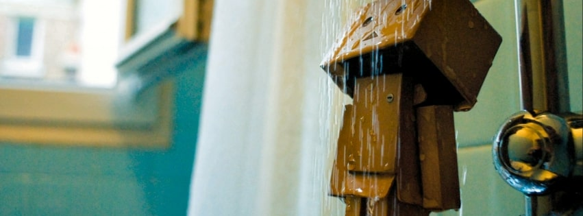 Amazon Danbo Having a Shower Facebook cover photo