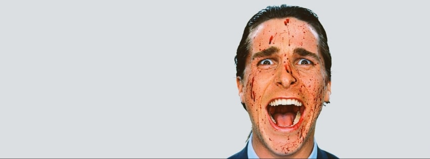 American Psycho Christian Bale Facebook cover photo