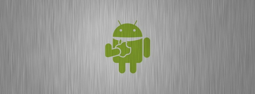 Android Eating Apple Facebook cover photo