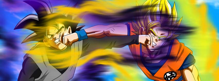 Anime Dragon Ball Super Double Punch Facebook cover photo