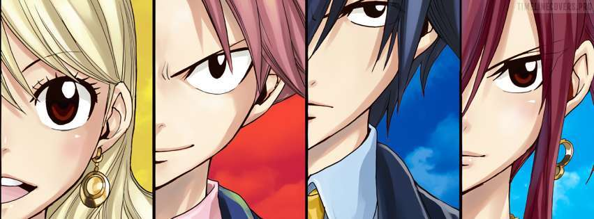 Anime Fairy Tail Erza Scarlet Gray Fullbuster Lucy Heartfilia Natsu Dragneel Facebook cover photo