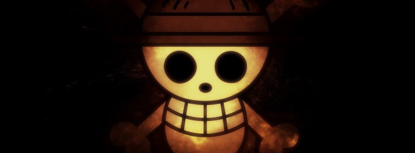 Anime One Piece Skull Facebook cover photo