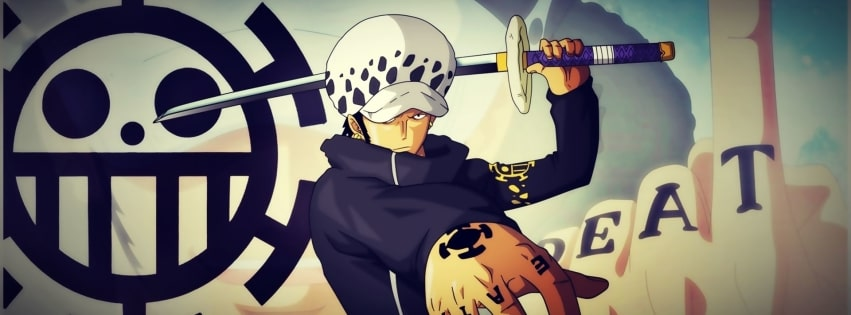 Anime One Piece The Law of The Sea Facebook cover photo