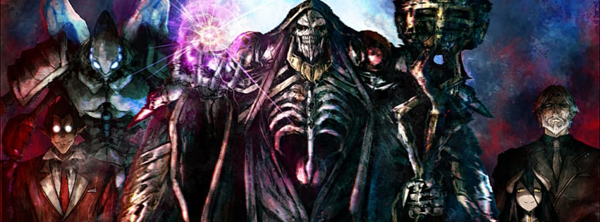 Anime Overlord Facebook cover photo