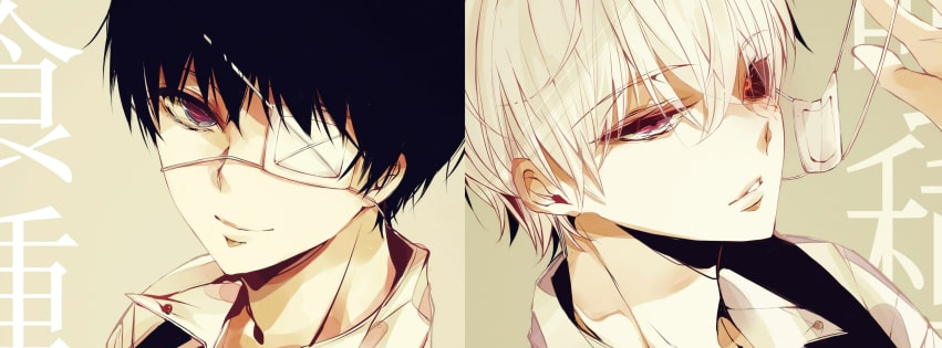 Anime Tokyo Ghoul Bandage Facebook cover photo