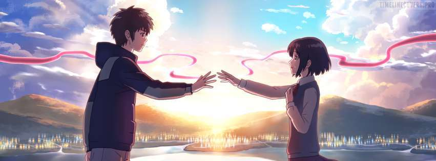 Anime Your Name Time to Go Facebook cover photo