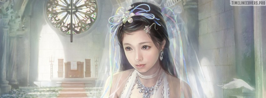Anime Bride Chen Lin Facebook cover photo