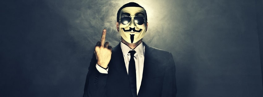 Anonymous Finger Facebook cover photo