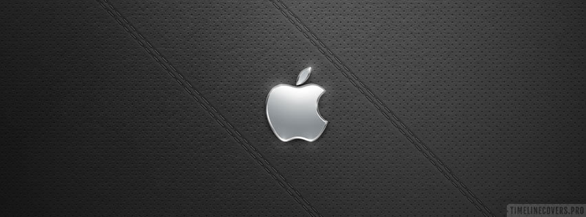Apple Logo on Leather Facebook cover photo