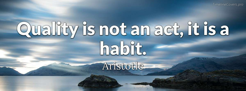 Aristotle Quote about Quality Facebook cover photo