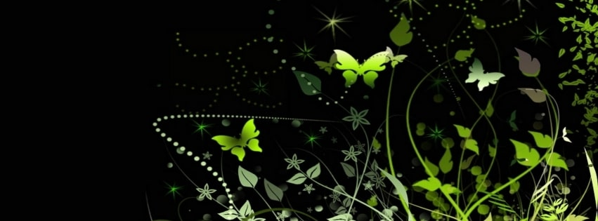 Artistic Butterfly Facebook cover photo