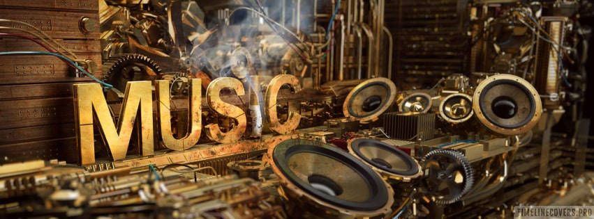 Artistic Music Text Facebook cover photo