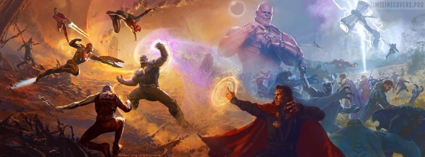Avengers Infinity War Facebook cover photo