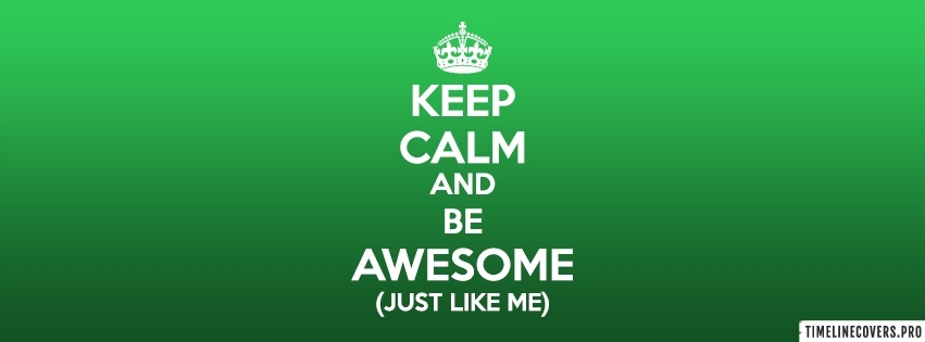 Be Awesome Facebook cover photo