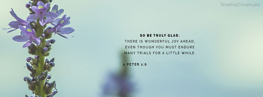 Be Truly Glad Christian Facebook cover photo