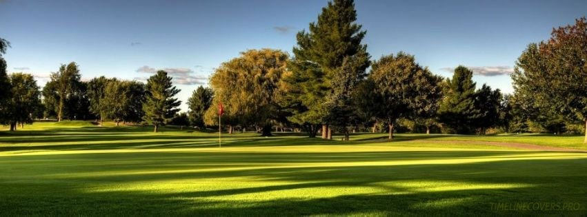 Beautiful Golf Course Facebook cover photo
