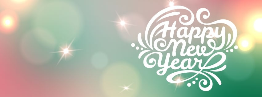 Beautiful Happy New Year Facebook cover photo