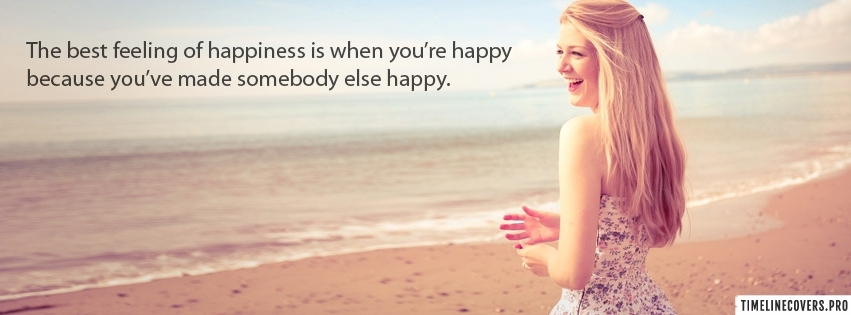 Best Feeling of Happiness Facebook cover photo