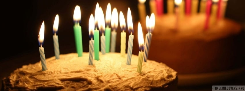 Birthday Cakes with Candles Facebook cover photo