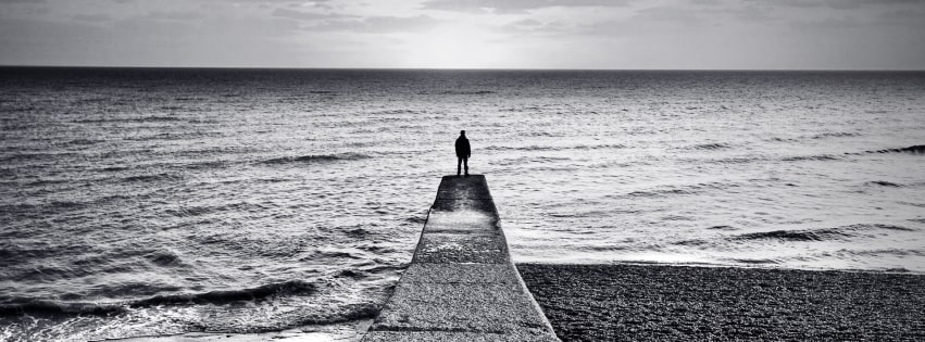 Black and White Silence Facebook cover photo
