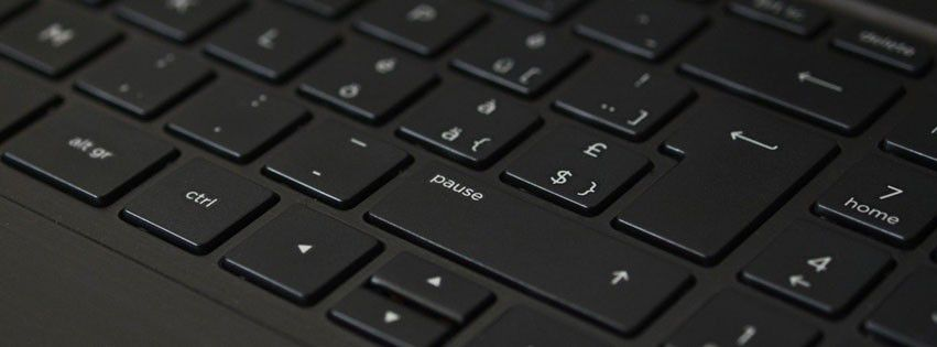 Black Laptop Computer Keyboard Facebook cover photo