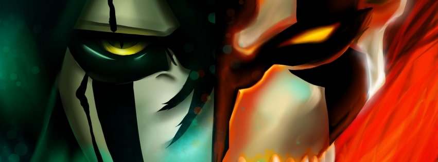 Bleach Ichigo Kurosaki Ulquiorra Cifer Facebook cover photo