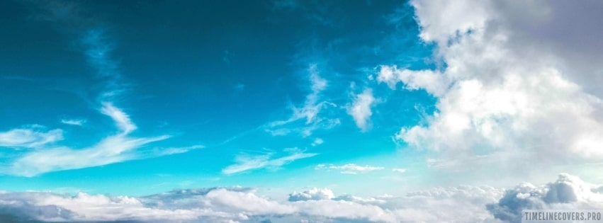 Blue Sky and Clouds Facebook cover photo