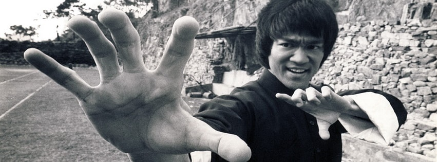 Bruce Lee Fighting Facebook cover photo